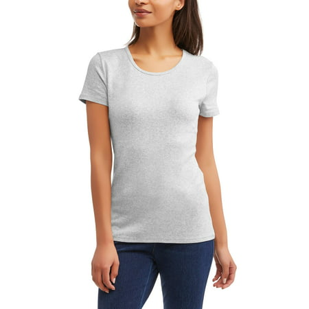 Pima Crewneck Tee - Women's Elevated Short Sleeve Crewneck T-Shirt