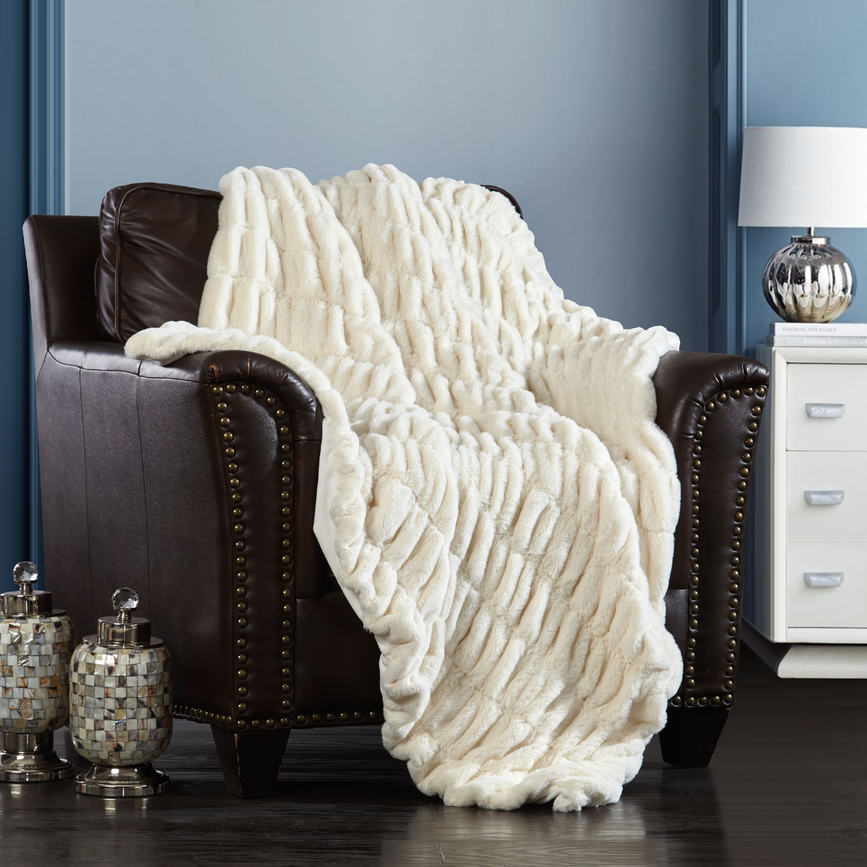 Chic Home Aio Throw Blanket Cozy Super Soft Faux Fur