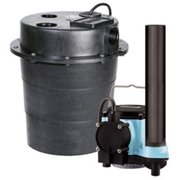 LITTLE GIANT WRS-6 Sink Pump System,1/3 HP,115V,9A,CI