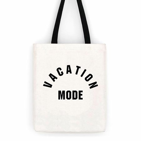 Vacation Mode Cotton Canvas Tote Bag Beach Day Trip Bag