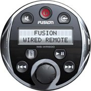 Fusion Marine Full Function Wired Remote for MS-AV600, MS-CD600 and MS-IP600, Chrome Bezel