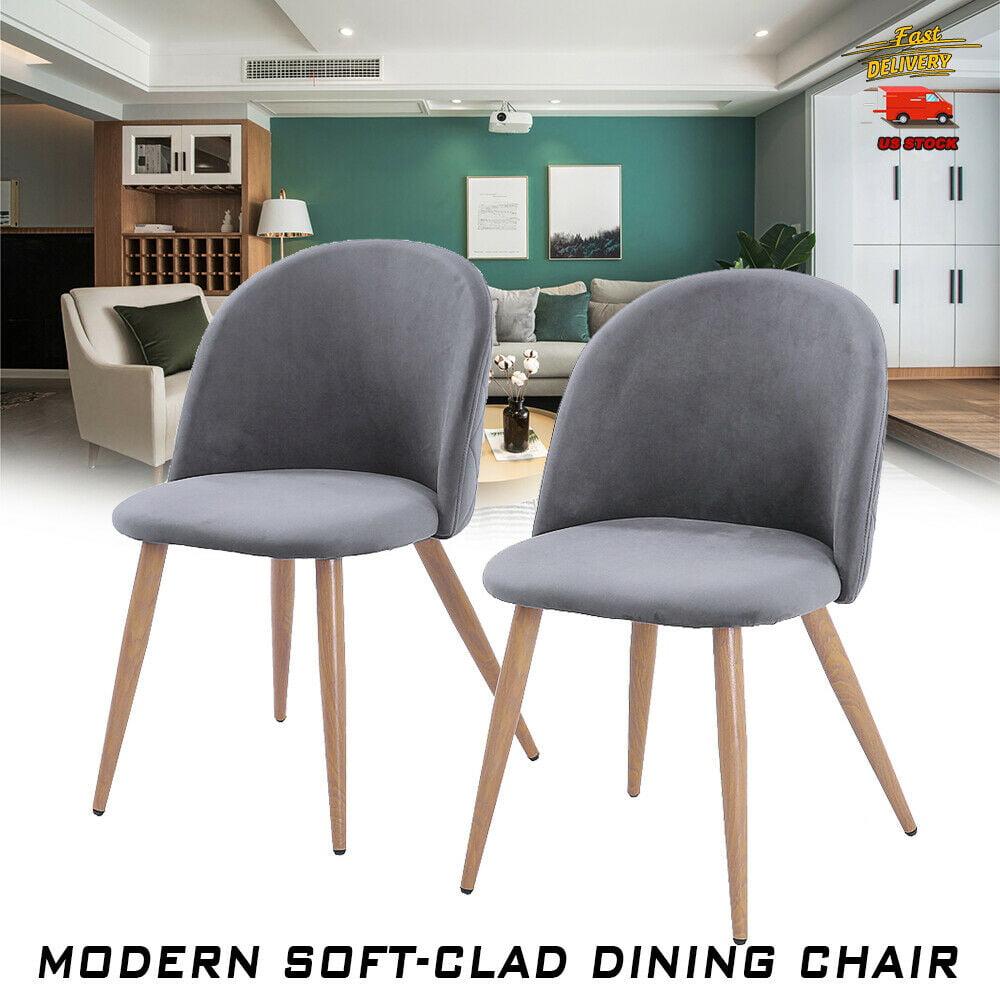 2pcs Modern Soft-clad Dining Chair Bread Chair Simple ...