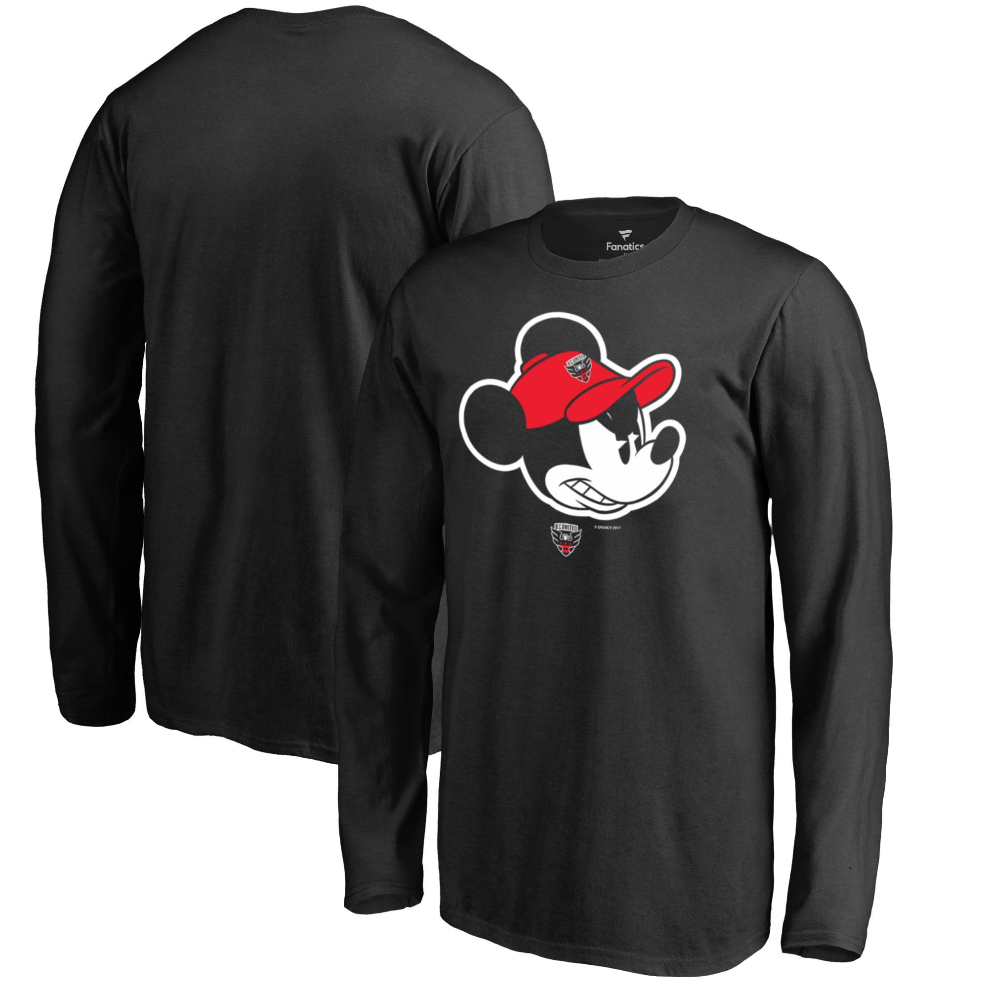 D.C. United Fanatics Branded Youth Disney Game Face Long Sleeve T-Shirt - Black