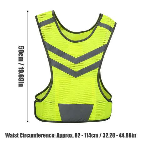 Garosa High Visibility Adjustable Reflective Safety Vest for Outdoor Sports Cycling Running Hiking,Sport Vest, Safety Vest - image 4 of 5