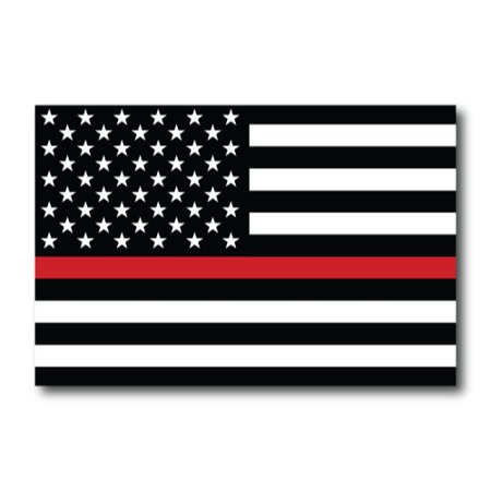 Thin Red Line American Flag Magnet Decal 4x6 Heavy Duty for Car Truck SUV - In Support of Our Firefighters and Local Fire Departments …