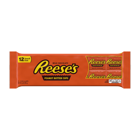 Reese's Peanut Butter Cups Chocolate Candy, 6.6 Oz., 12 Count ()