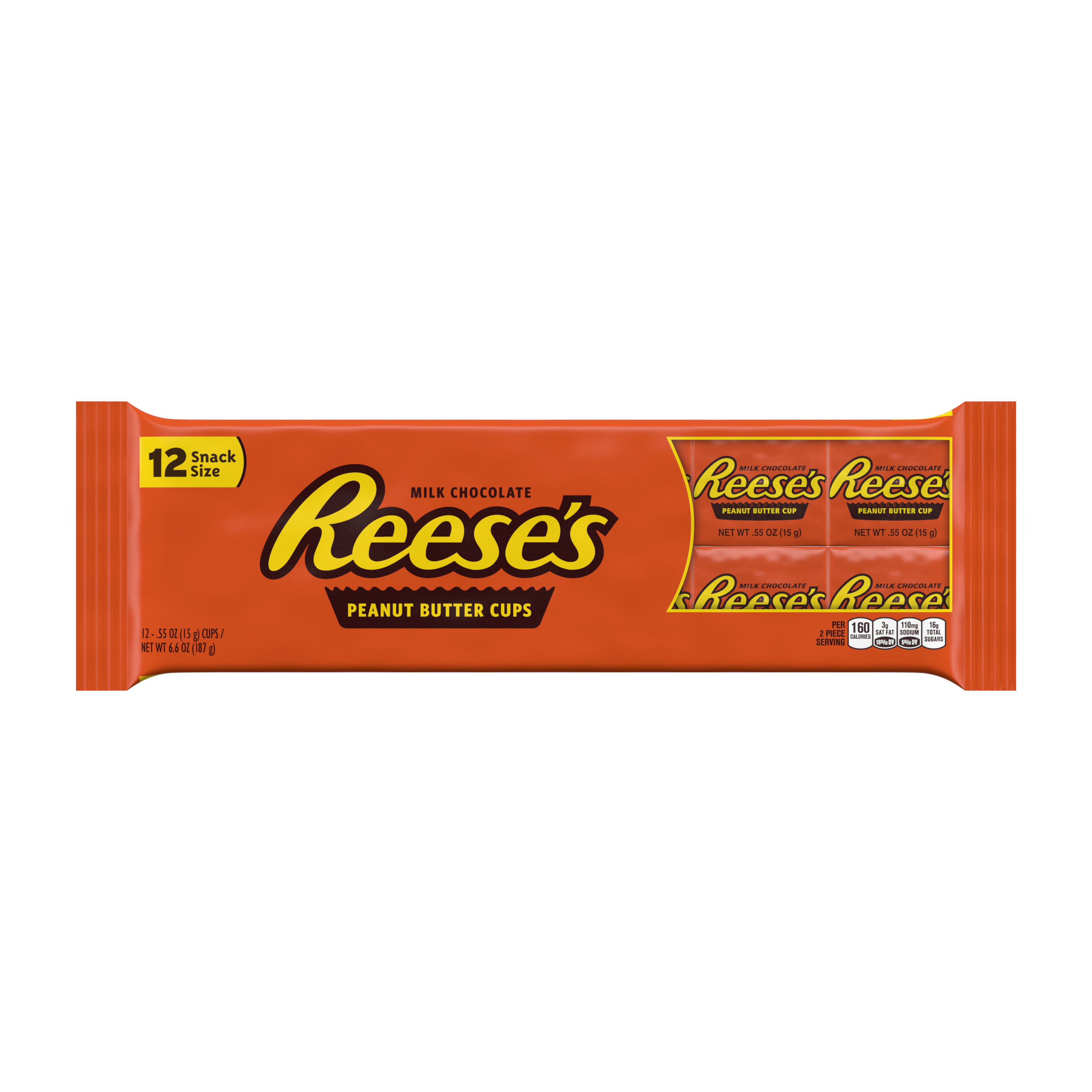 Reese's, Peanut Butter Cups Chocolate Candy, 6.6 Oz, 12 Ct