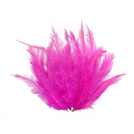 1/2 Lb - Hot Pink Mini Spads Ostrich Wholesale Chick Body Feathers (Bulk) - Wholesale Crafts Supplies