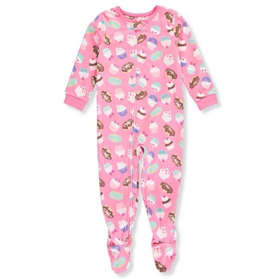 55e35735fcf9 Carter s - Carter s Little Girls  1 Piece Cupcake Fleece Pajamas 3 ...