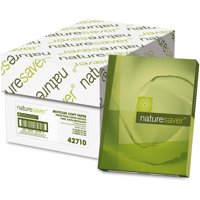 Nature Saver, NAT42710, 50% Recycled Copy Paper, 5000 / Carton, White
