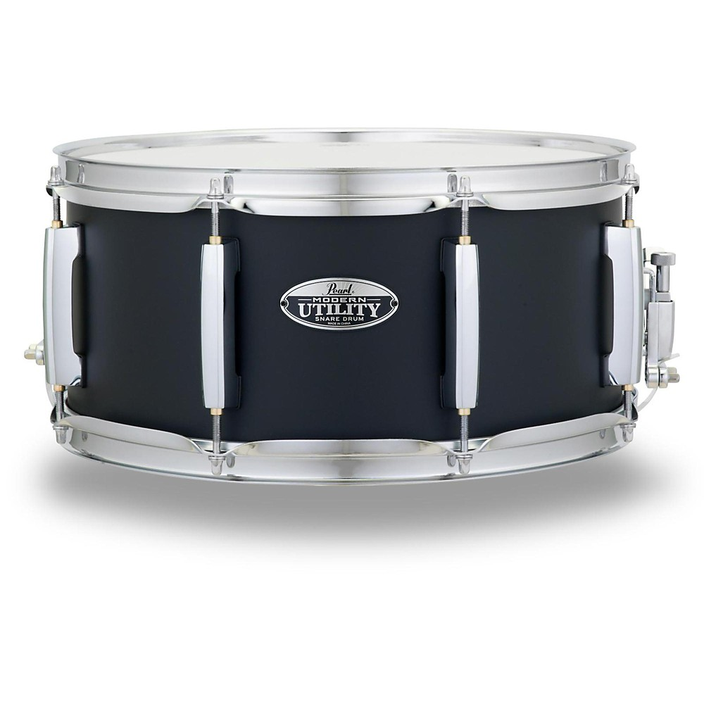 "Pearl MUS1465M227 Modern Utility 14""x6.5"" Maple Snare Drum - Satin Black"