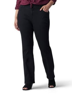 Lee Riders Women's Plus Size Flexible Motion Elastic Waistband Bootcut Jean