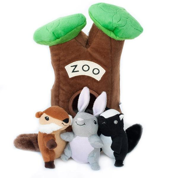 ZippyPaws Burrow Zoo Interactive Hide and Seek Squeaky Plush Dog Toy - ZP204