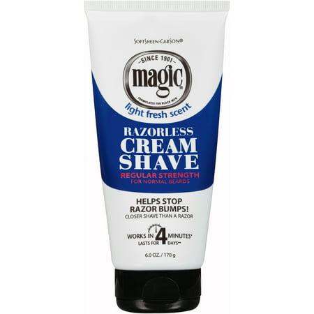 SoftSheen-Carson Magic Shave Razorless Cream Shave, Regular Strength for Normal Beards, 6