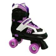 Mongoose MG-097G-L Girls Size Large Comfortable Quad Rollerblade Skates, Purple