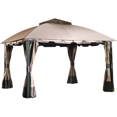 Sunjoy Midtown Gazebo, Brown by Gazebos