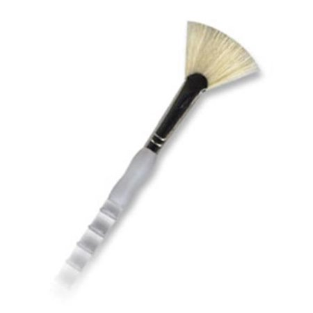 (ROYAL BRUSH SG405FB4 SOFT GRIP WHITE BRISTLE LONG HANDLE FAN 4)