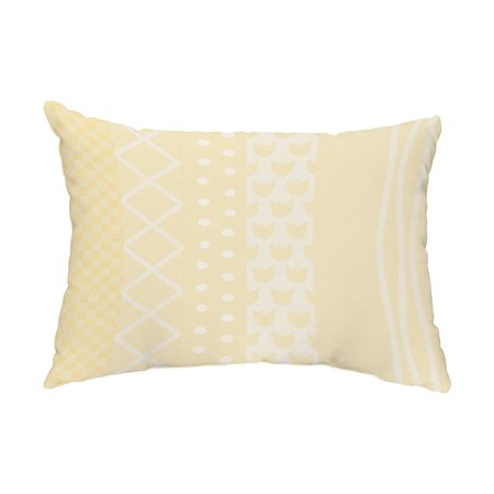 Yellow Striped Pillow - Pattern Stripe 14x20 inch Yellow Decorative Stripe Outdoor Pillow