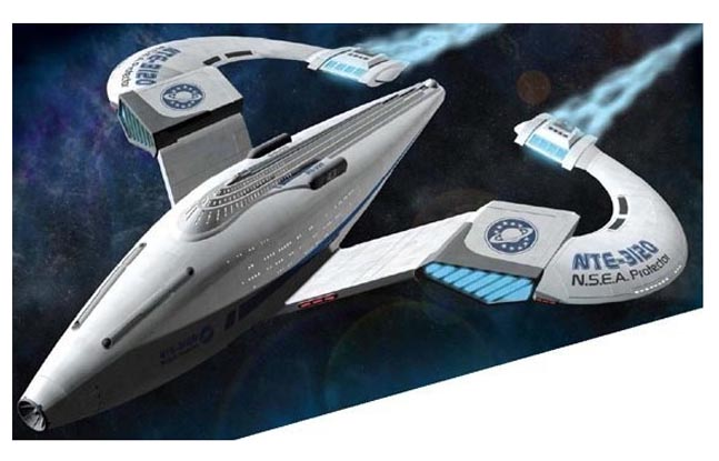 Galaxy Quest NSEA Protector Spaceship Pre-Built Model by Pegasus Hobbies