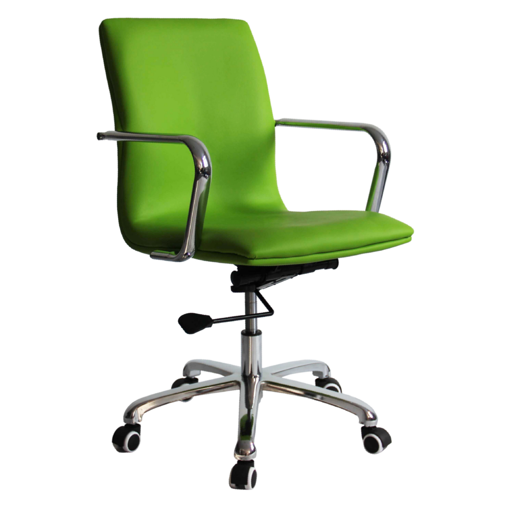 Modern Contemporary Urban Design Home Work Swivel Adjustable Office Chair, Green, Leather