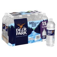 DEER PARK Brand 100% Natural Spring Water, 33.8-ounce plastic bottles (Pack of 15)