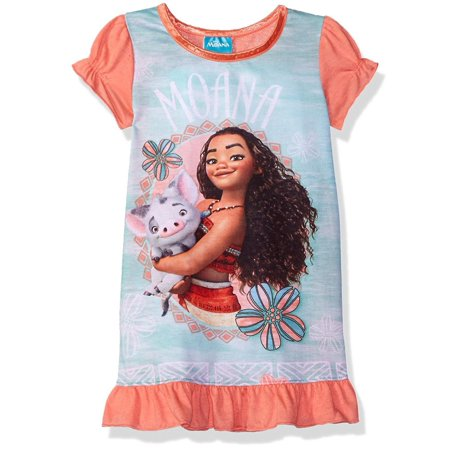 Disney Girls Moana Nightgown, Gown Sizes 2T-10, Size: 3T - Disney Princess Dressing Gowns