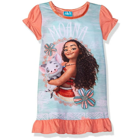 Disney Girls Moana Nightgown, Gown Sizes 2T-10