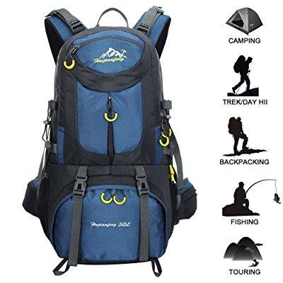 2fe05d7e4558 ... hiking backpack 50l waterproof huwaijianfeng backpack outdoor sport  daypack with a rain cover for climbing mountaineering
