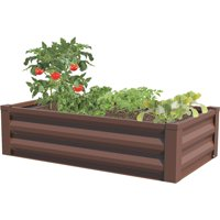 """Raised Garden Bed, Timber Brown, 47""""L x 26""""W x 12.5""""H"""