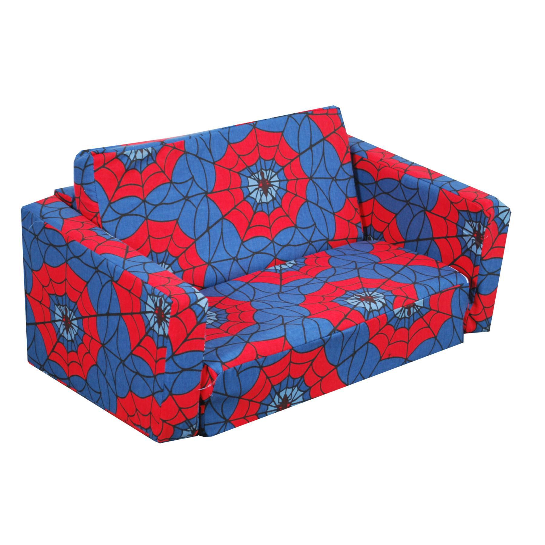 Juvenile Poly Cotton Sofa Sleeper-Color:Spider Web