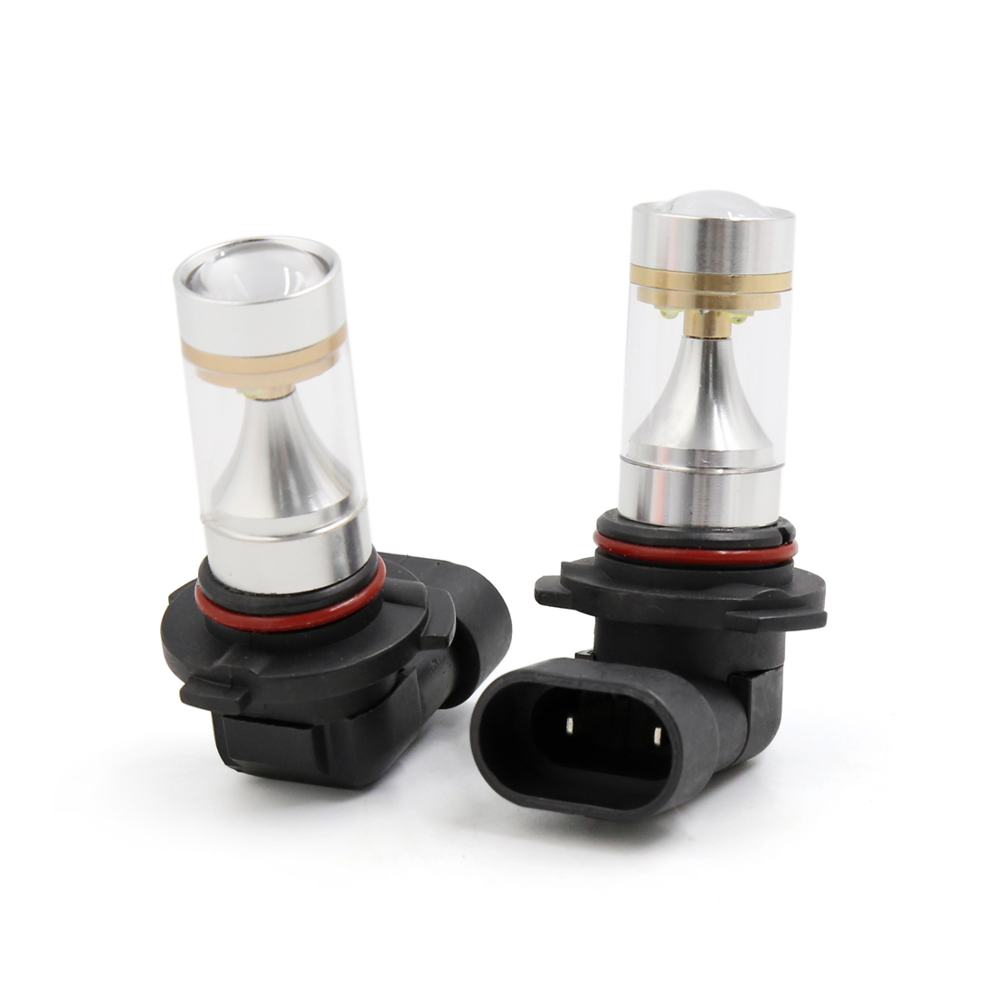 2Pcs 9005 White 6 2525 SMD LEDs Projector Lens Fog Headlight Bulb for Car