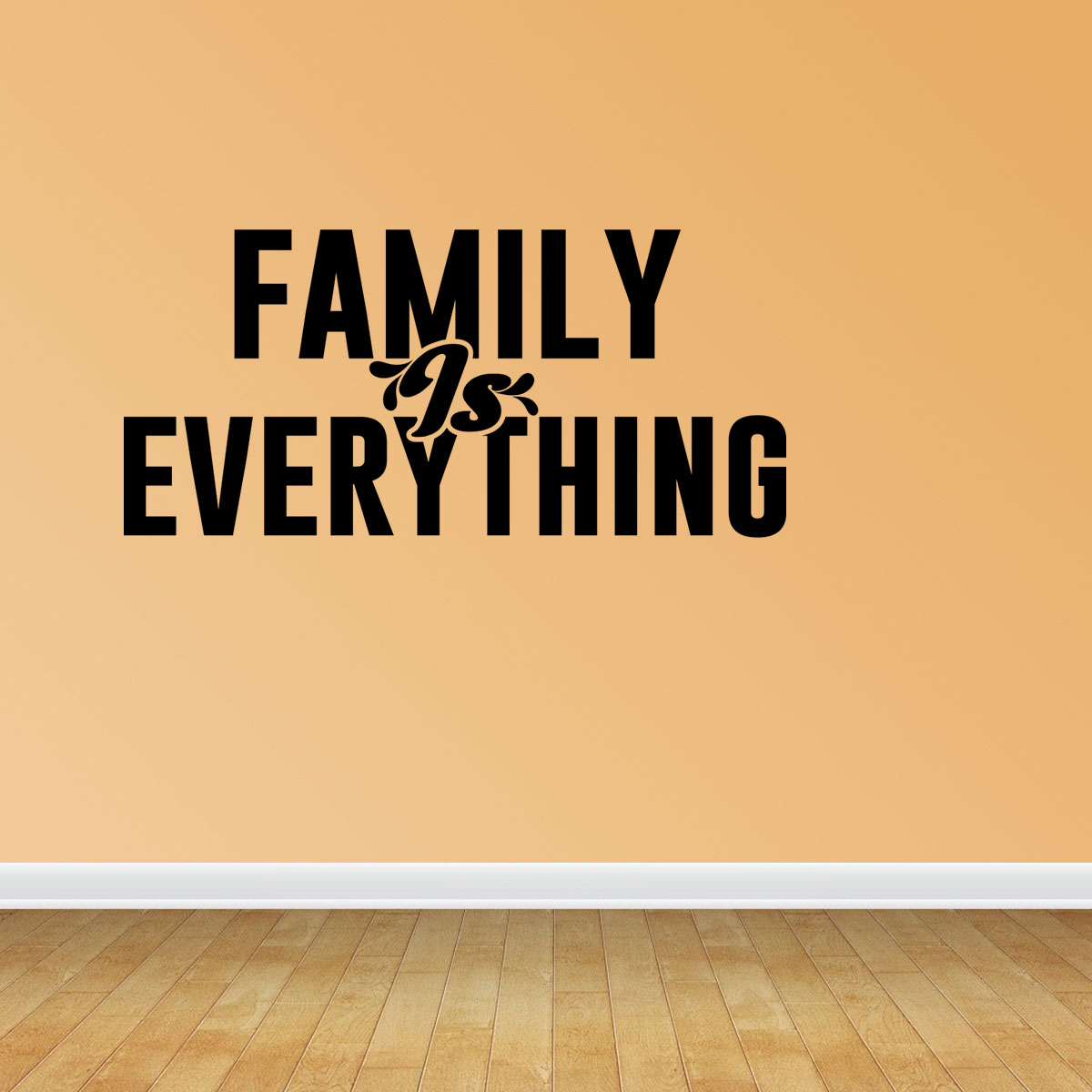 Family Is Everything Decal Home Decor Family Vinyl Quotes Wall Art