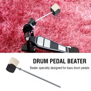 Yosoo Bass Drum Pedal Beater Felt Handle Percussion Instrument Accessory ,  Drum Pedal Accessory, Bass Pedal Beater