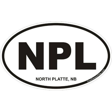 3.8 Inch North Platte Nebraska Oval Decal