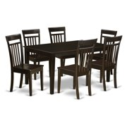 East West Furniture Capri 7 Piece Sheraton Dining Table Set