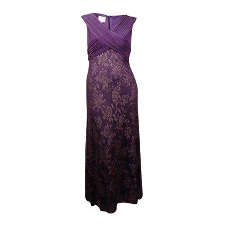 Patra Women\'s Plus-Size Glittered V-Neck Dress