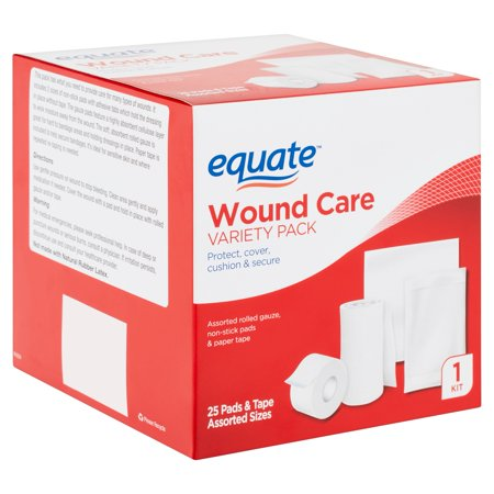 Equate Wound Care Kit Variety Pack (Items Needed In A First Aid Kit)