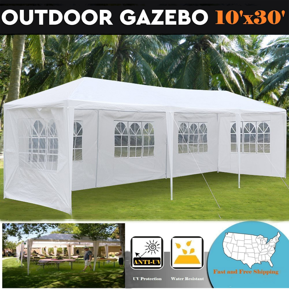 Zimtown 10'X30' Outdoor Canopy Party Wedding Tent Heavy Duty Gazebo Pavilion