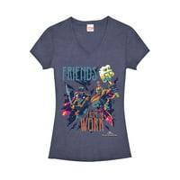Marvel Juniors' Thor: Ragnarok Friends Work V-Neck T-Shirt