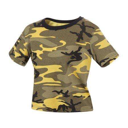 b40f29724a6 Rothco - Rothco Women's Camouflage Crop Top T-Shirt - Walmart.com