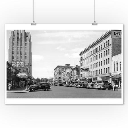 Yakima Washington Street Scene View Photograph 9x12 Art Print Wall Decor Travel Poster
