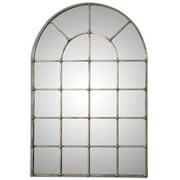Uttermost 12875 Barwell Arch Window Pane Farmhouse Mirror - Silver