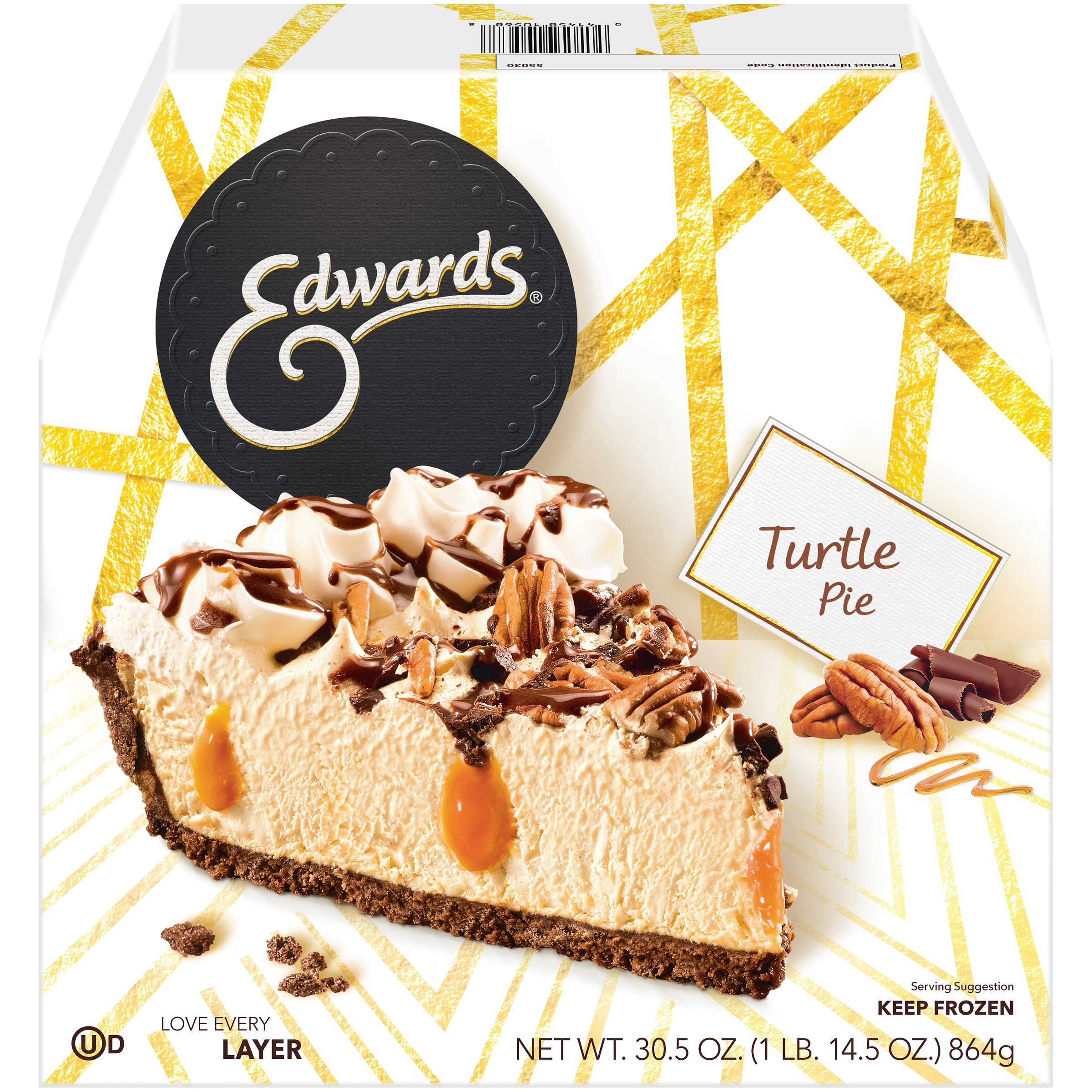 Edwards Turtle Pie 30.5 oz. Box - Walmart.com