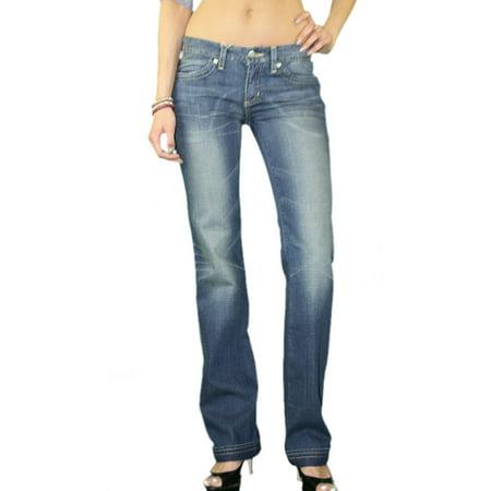 Stonewashed Jeans - CUSTO BARCELONA Women's Yuri First Stonewashed Flare Jeans 293006