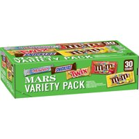 SNICKERS, M&M'S, 3 MUSKETEERS & TWIX Full Size Chocolate Candy Bars Variety Mix, 53.68-Ounce 30-Count Box