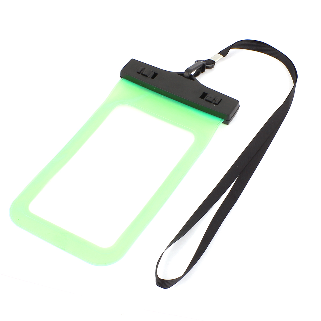 """Unique Bargains 7.9"""" Height Waterproof Sealing Pouch Bag Green w Neckstrap for Camera Phones"""
