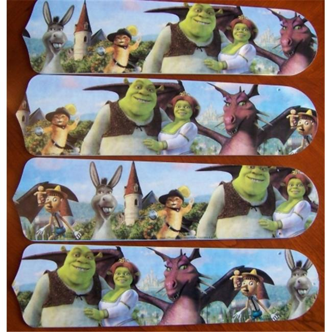 Ceiling Fan Designers 42SET-DIS-S3PF Shrek 3 Princess Fiona 42 inch Ceiling Fan Blades Only