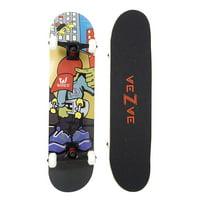 veZve Maple Complete Skateboard for Beginners Boys Girls, 31x7.75 inch