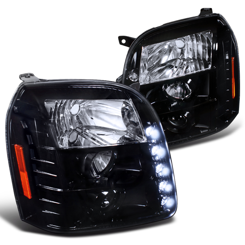Spec-D Tuning 2007-2014 Gmc Yukon Denali Xl Dual Halo Led Projector Headlights 07 08 09 10 11 12 13 14 (Left + Right)