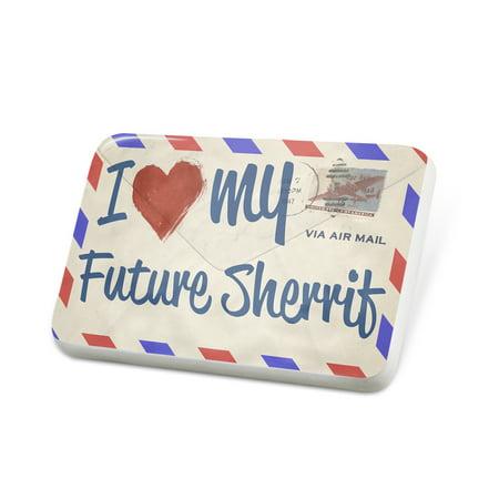 Porcelein Pin I Love my Future Sherrif, Vintage Letter Lapel Badge – NEONBLOND](Sherrif Badges)